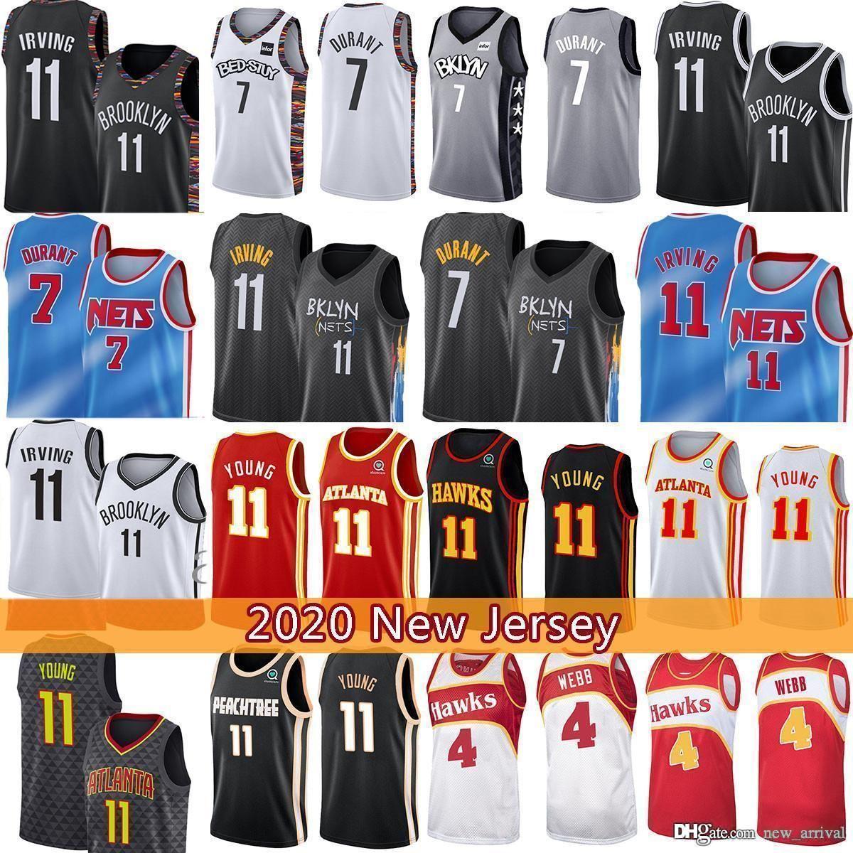 7 Kevin Kyrie Trae 11 Young Irving Durant Basketball Jersey Spud 4 Webb Basketball Jersey BrooklynNET ATLANTAHalcón