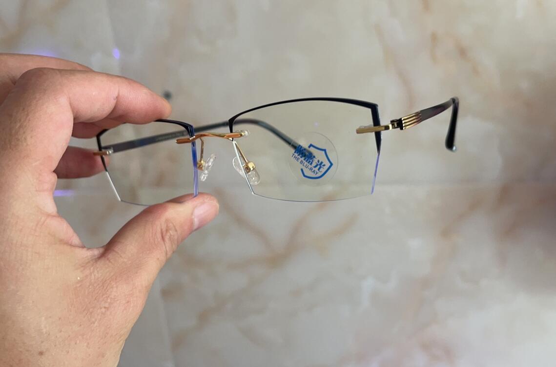 Occhiali da sole luminosi naturali 21SSS Occhiali da sole Optical Desbyopia di sicurezza con telaio completo Lente piatta Fornisce occhiali da protezione UV per uomini e donne