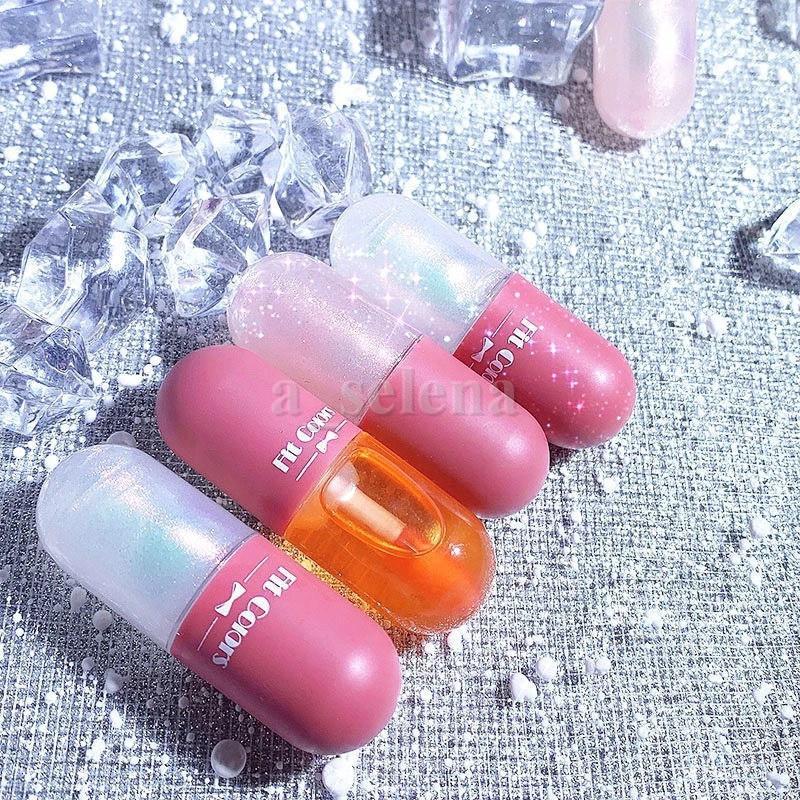 Colores de ajuste Mini líquido Lápiz labial Hidratante de labios Brillo de labios Labios Tinte Transparente Pullo Plumper Brillo Lipgloss 3 estilos