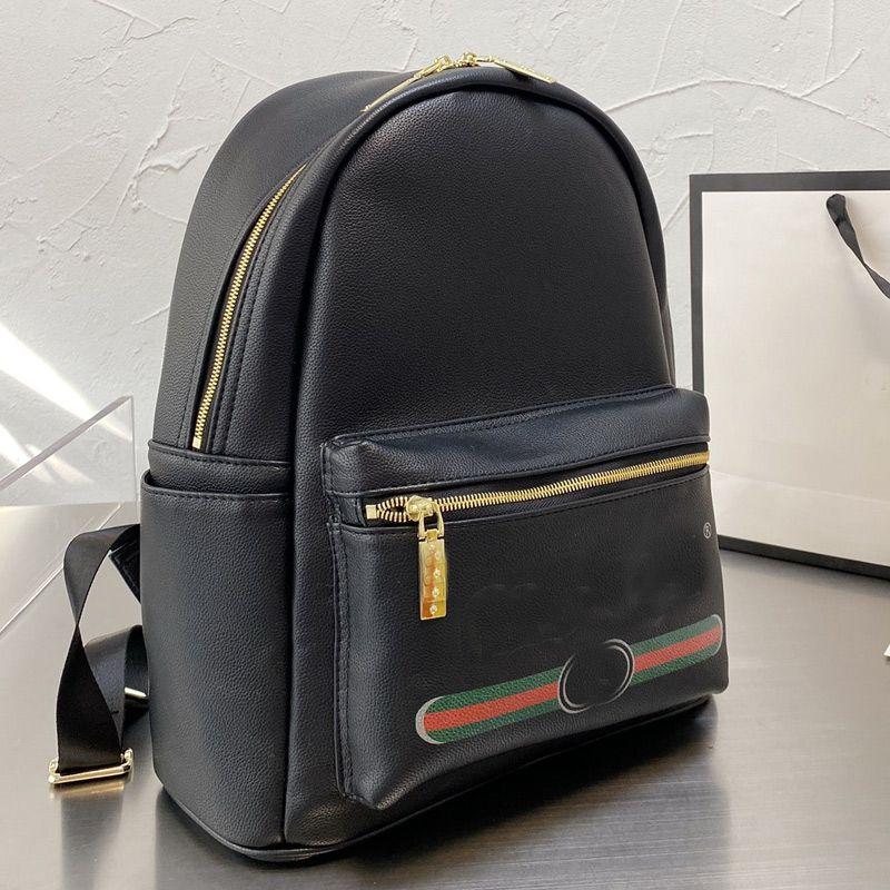 Backpack Shoulder Bag Handbags 2021 Backpacks Genuine Leather Fashion Letter Printed Shoolbag Satchels Men Women Back Pack