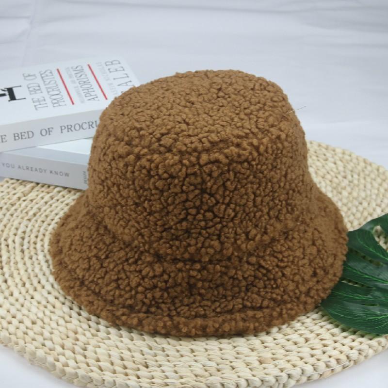 Wide Brim Hats Bucket Women Beige Coffee Black Label Fisherman Caps Casual Keep Warm Windproof Men Winter Gorras Para Mujer