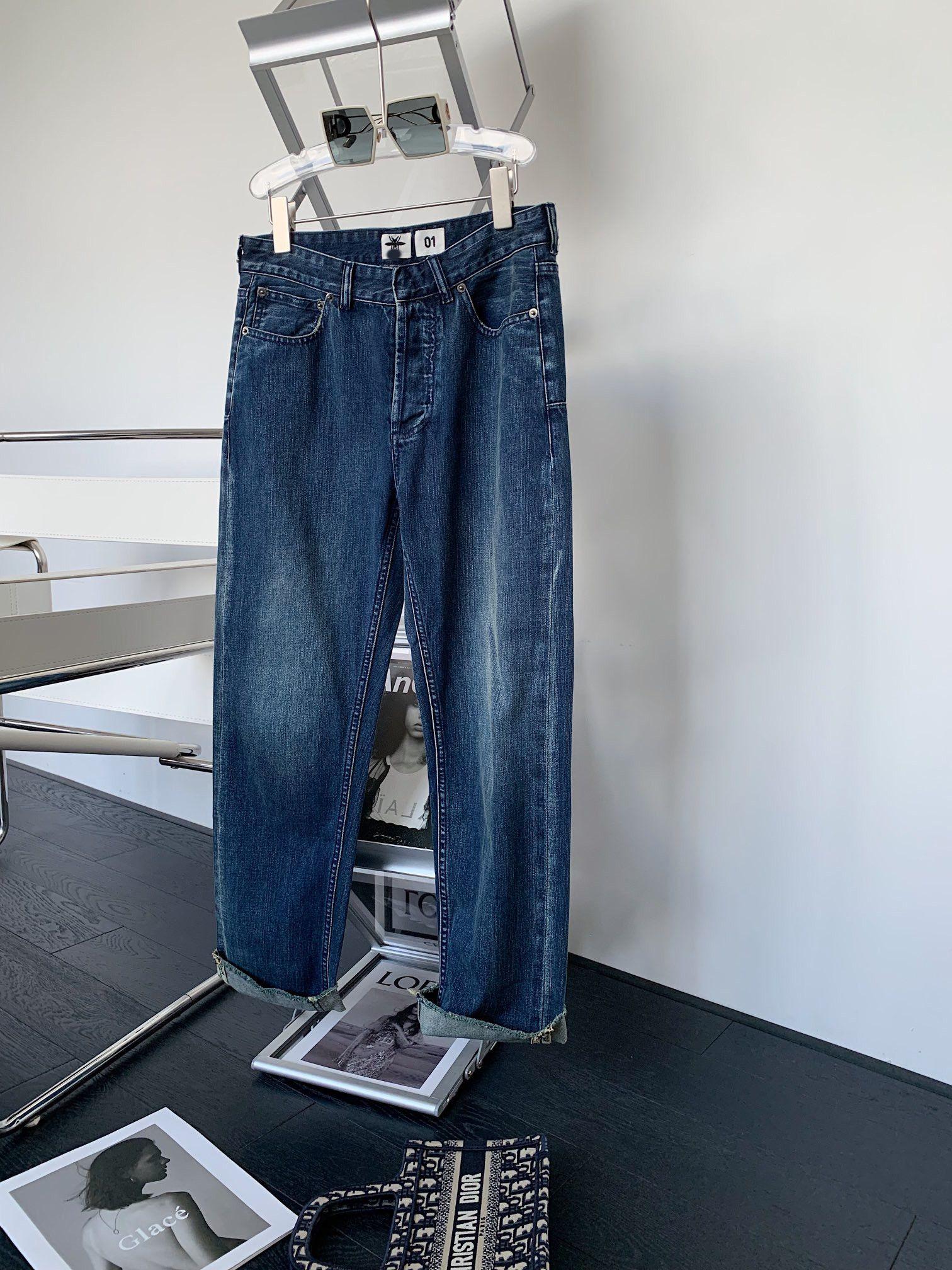Milan Pist Jeans 2021 Yaz Sonbahar Mavi Moda Tasarımcısı Düz Marka Aynı Stil Lüks Bayan Giyim 0619-3