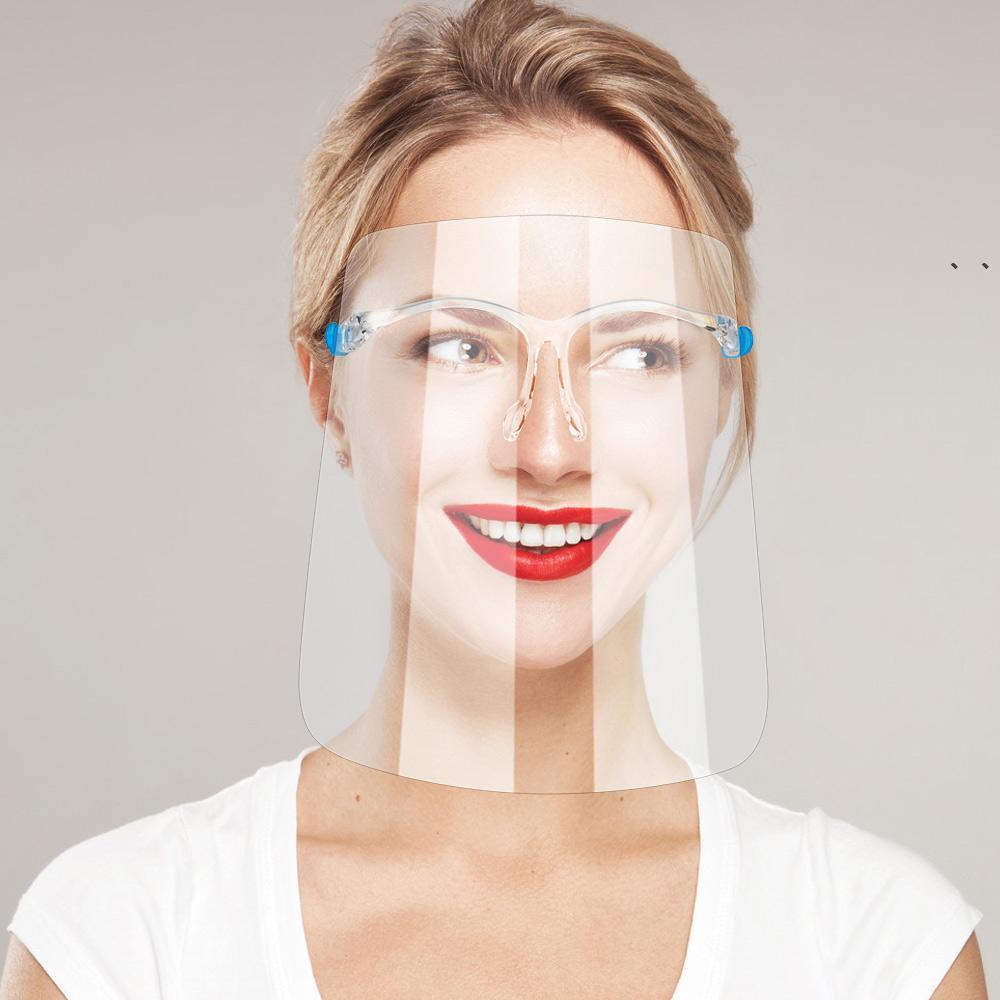 Spedizione rapida Schermo di sicurezza viso Glasses Goggle riutilizzabile visiera visiera visiera visiera trasparente anti-fendinebbia proteggere gli occhi da splash NHF7278