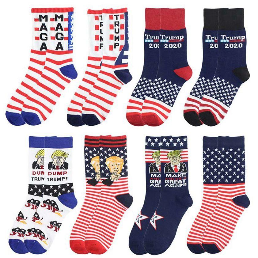 2024 Trump Socks President Maga Trump carta Medias de rayas Starts Flag Sports Socks Maga Sock Party Favor cyz2991