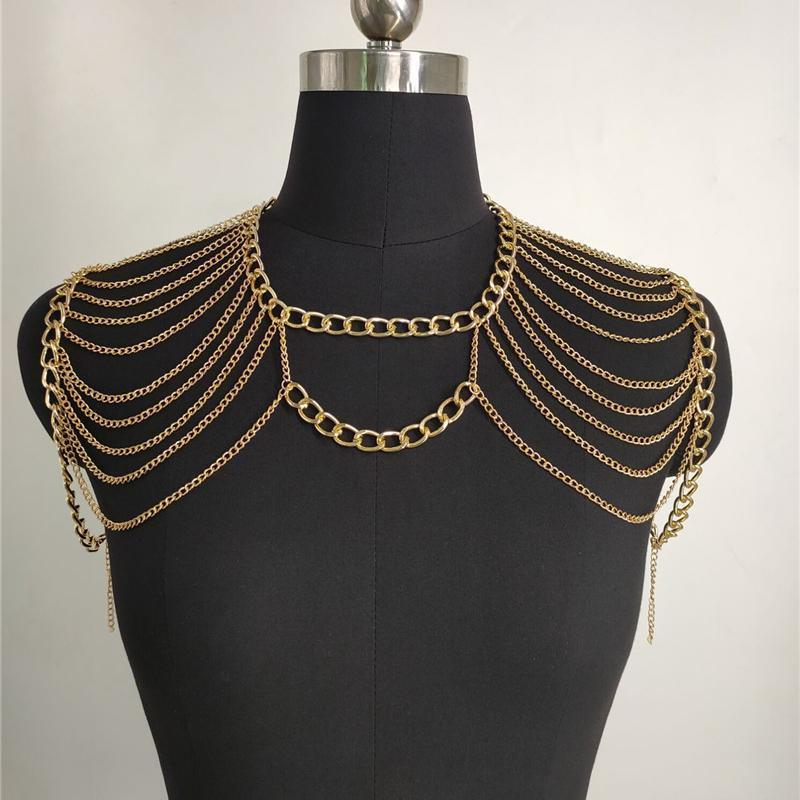 Châle créativité épais et mince châle suspendue conception de cou d'épaule à double épaule collier de glands pour femmes