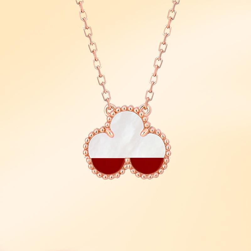 Four-Hoja 18k oro Lucky Clover Collar Moda de mujer Colgante de lujo de alta calidad Seiko Producción Joyería estilo clásico 018