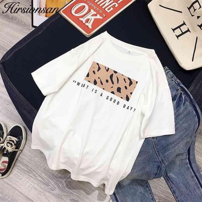 Hirsionsan Leopard Imprimir Camisetas Mulheres Primavera Verão Quente T-shirt Casual O-pescoço Manga Curta Harajuku Cool T-shirt Feminino Tops 210320