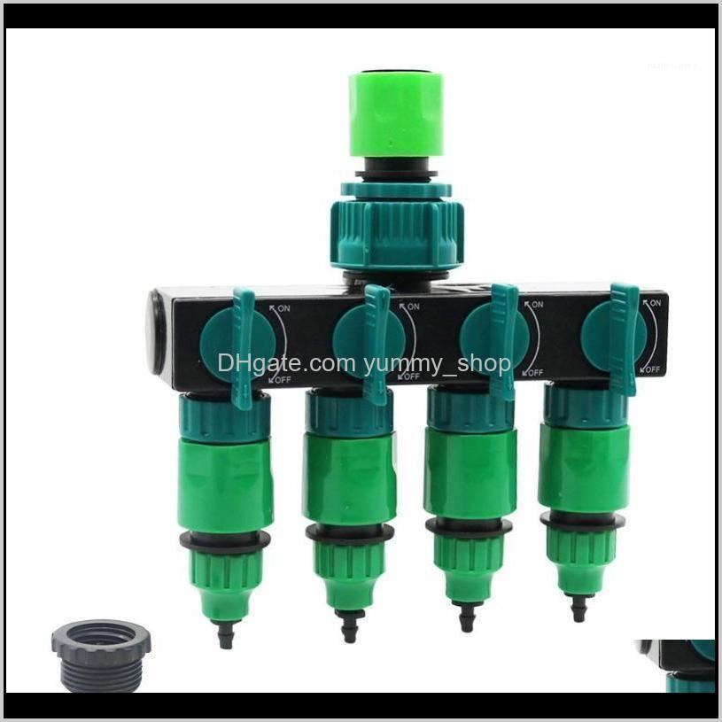 Watering Equipments Supplies Patio, Lawn Home & Gardengarden 4-Way Tap Splitter Garden Drip 4/7 Or 8/11 Hose Fittings Pipe Connector Irrigat