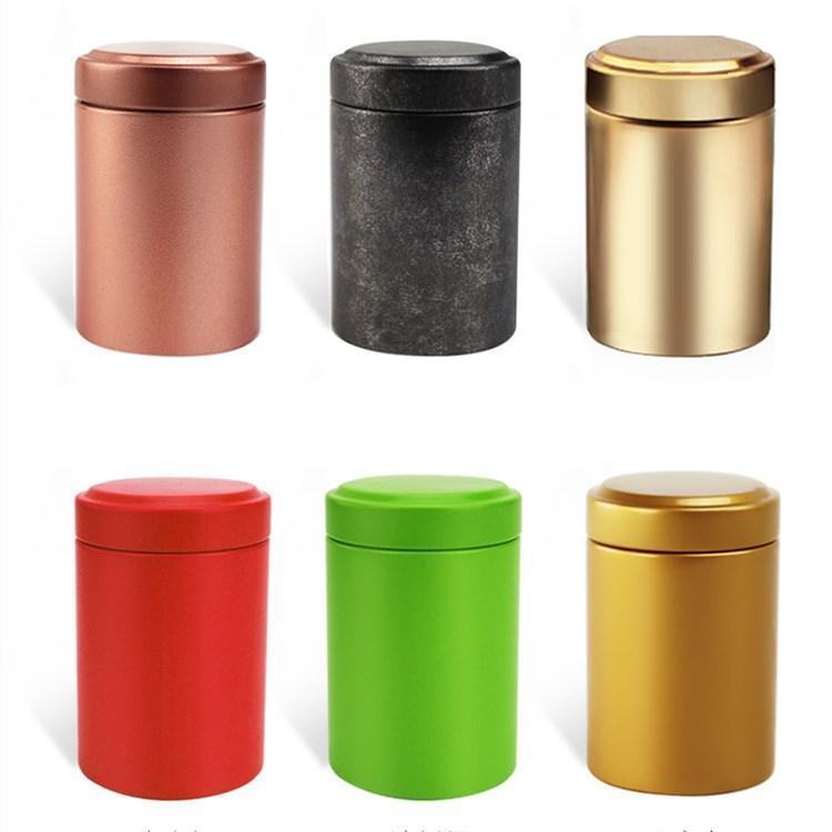 Quente 45 * 65mm caixa de estanho Caixa de chá Café açúcar nozes frascos caixas de armazenamento de metal moedas de metal jóias caso organizador de chá caddies gwe7005