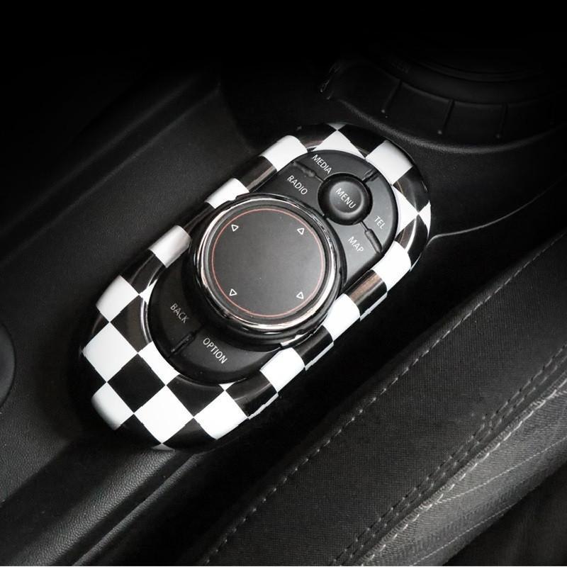 Union Jack ABS Car Centre de décoration d'intérieur Console Console Sticker Midea Control Contrôle Couvercle de garniture pour Mini Cooper F56 F55 Autres accessoires