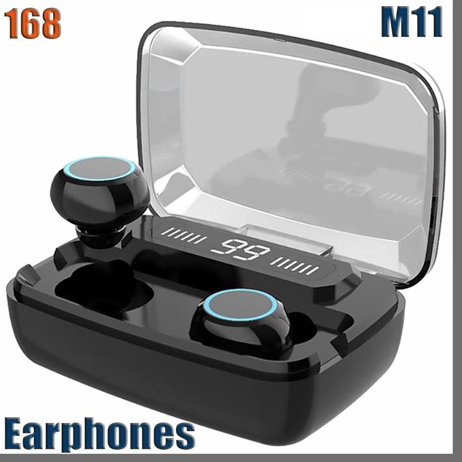 168D Original Wireless Headphones M11 Bluetooth 5.0 In-ear earphone Noise reduction HiFi IPX7 Waterproof Headset for sports
