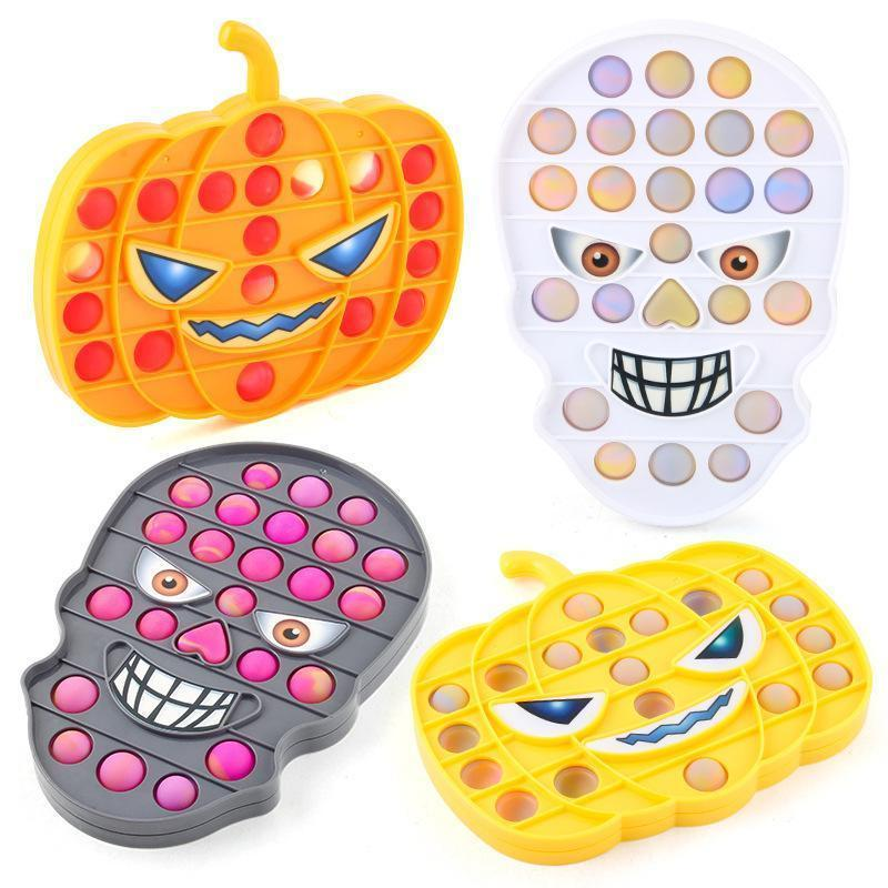 Push its Fidget Decompression Toys 16*18*1.5CM Size Multicolor Halloween Elements Feature Bubble Fingertip Sensory Toy for Children Gifts