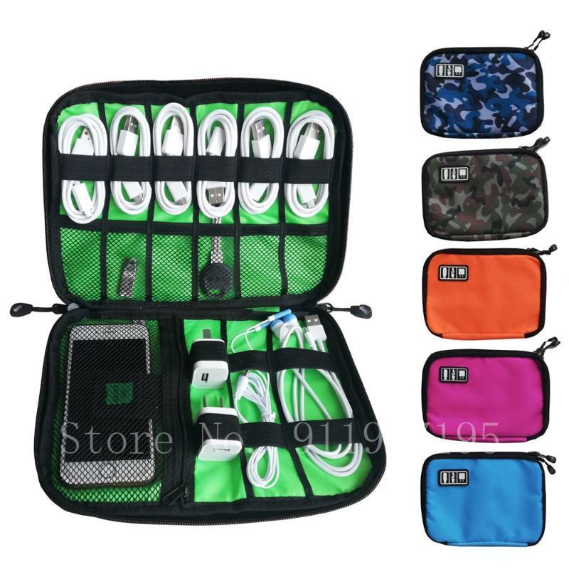 أكياس التخزين أداة منظم usb كابل حقيبة السفر الرقمية الملحقات الإلكترونية الحقيبة شاحن قوة البنك حامل طقم