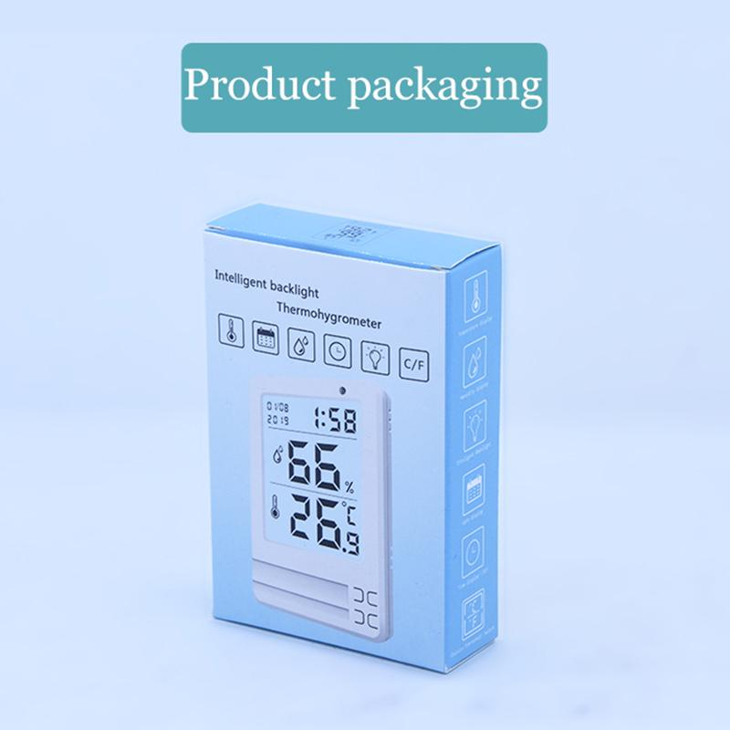 Electronic Digital Temperature Humidity Meter Thermometer Hygrometer Indoor Outdoor Weather Station Clock Quality