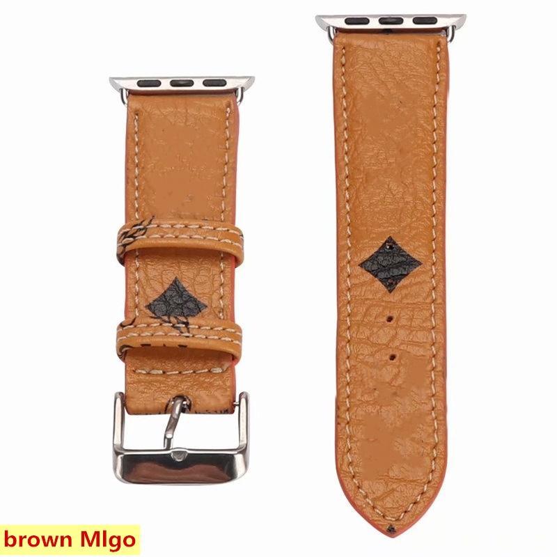 Sangles de montre de créateurs de mode pour iWatch Series 1 2 3 4 5 6 Top Qualité Cuir Smart Bands Smart Bracelet de Deluxe Gands Accessoires portables