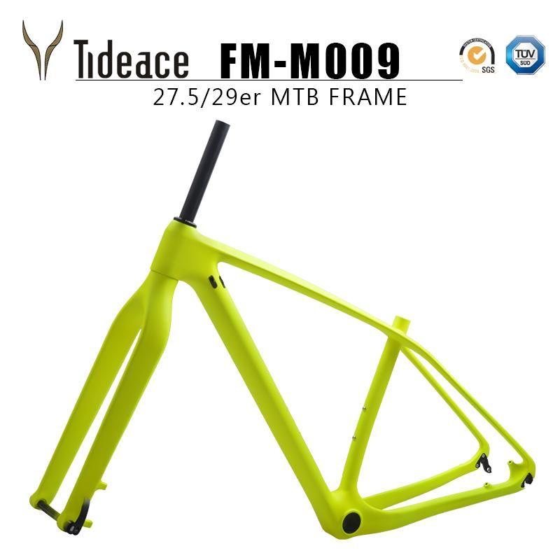 Quadros de bicicleta OEM Rígido Mountain Frame Disco 29er 29.5er 142 * 12 ou 135 * 9 Familoset MTB de carbono com garfo juntos à venda