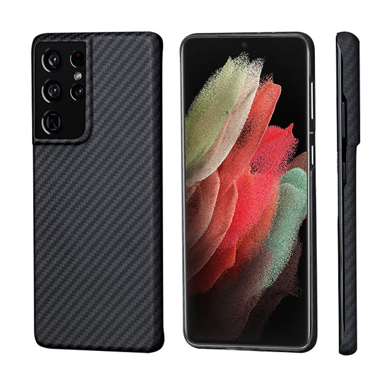 Pure Carbon Fiber Ultra-Thin Mobile Phone Cases Shell For Samsung S21 Ultra Note 20 Shockproof Anti-Drop Full Cover