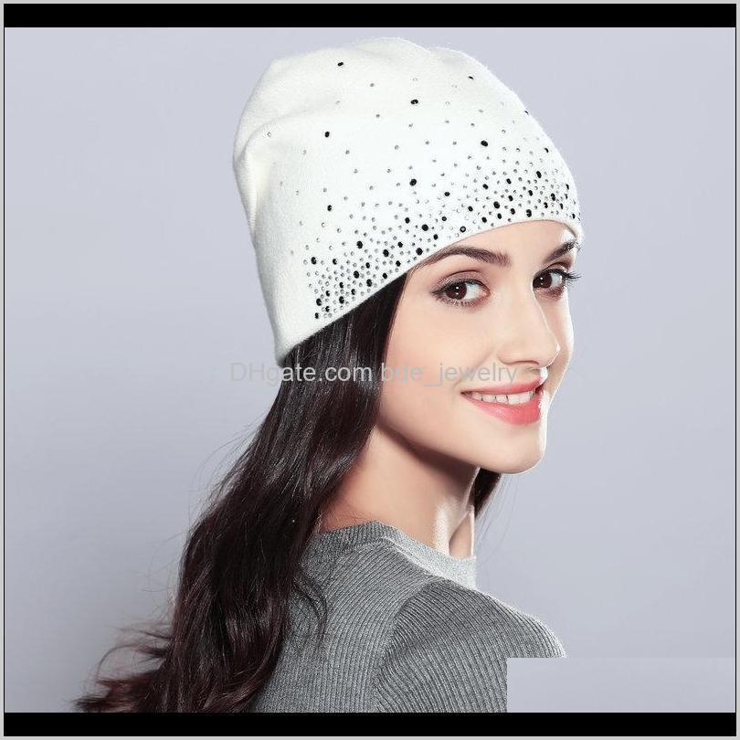 Beanie / Skull Gorras gorras, bufandas Guantes AessiesFashion Fashion Dama de punto Hoolen Femal Gorra Femenino Hoja de punto Sombreros de punto para la moda Hat w w