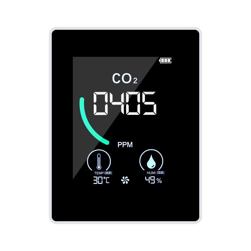 Code-Leser Scan-Werkzeuge CO2-Meter Innenkohlendioxid-Detektor mit Wärmeableitungsloch Halbleiterinduktion LCD-Anzeige relativ h