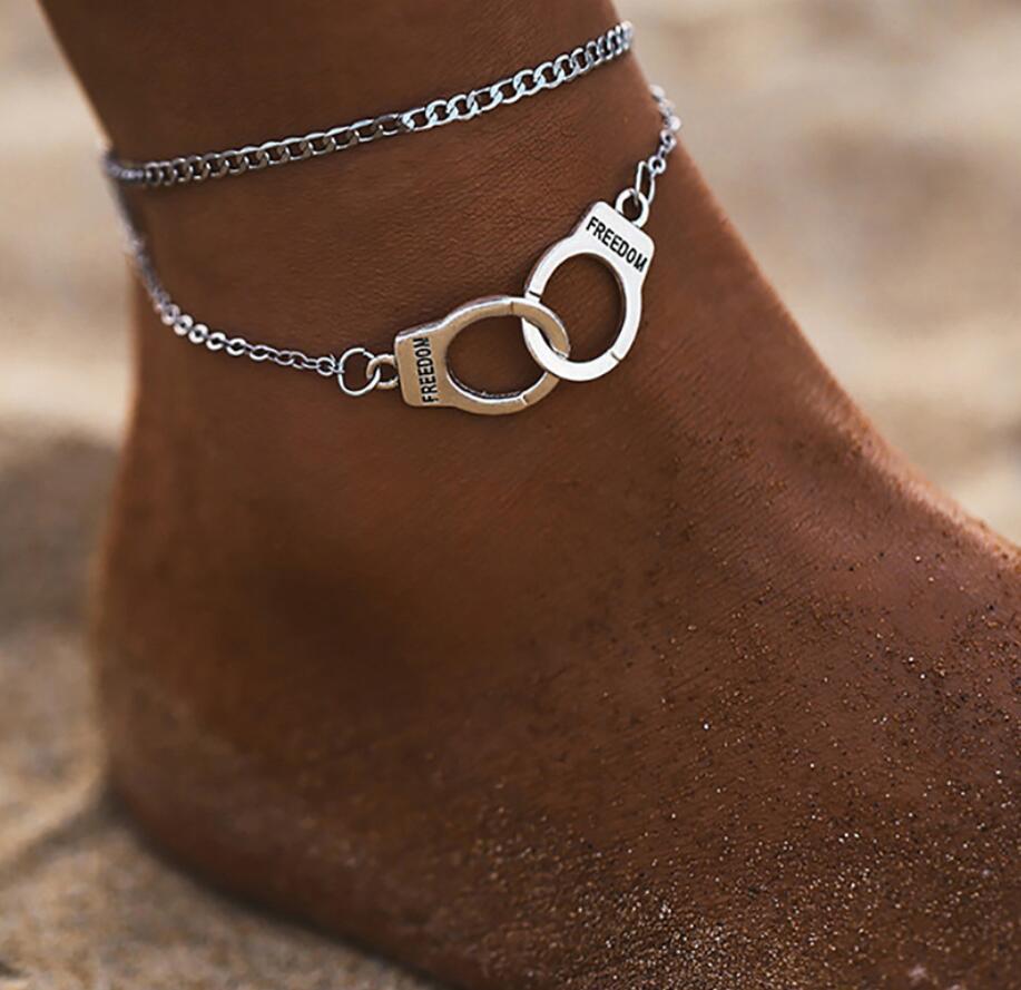 Cadena de los Anklets de la estrella de Boho para las mujeres de la playa de la playa damas