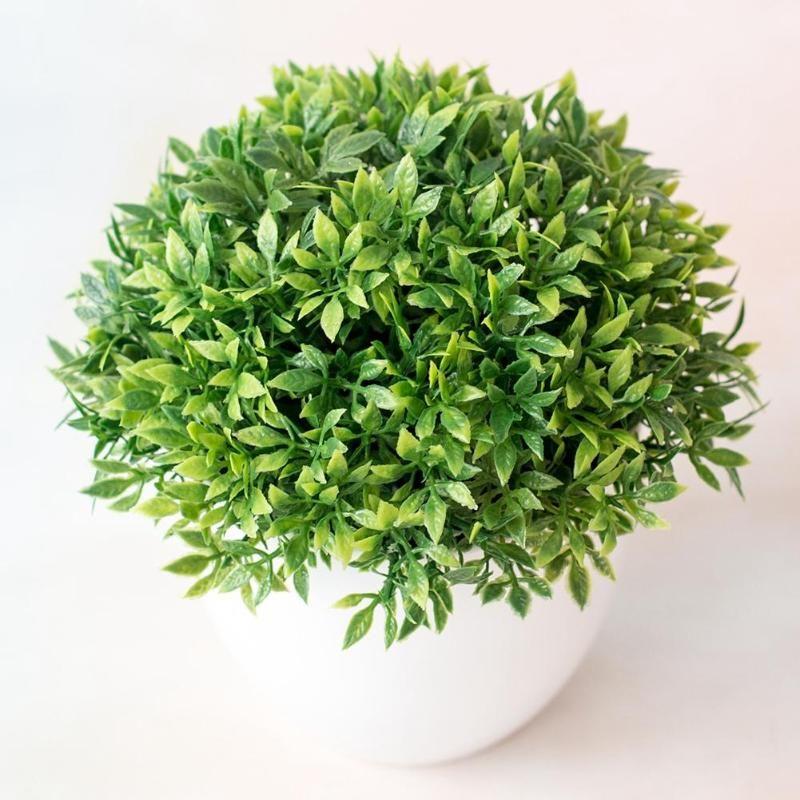 الزخرفية الزهور أكاليل حية النباتات الاصطناعية بونساي شجرة صغيرة وعاء مزيفة بوعاء الحلي للديكور المنزل حديقة ديكور