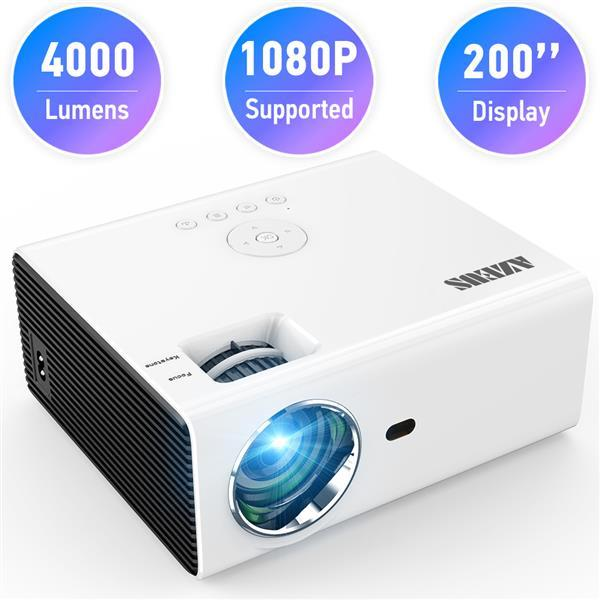 AZEUS RD-822 Video Projector Leisure C3MQ Mini Projector Supported 1920*1080P Portable Projector For Home With 40000 Hrs LED Lamp Life TV Stick
