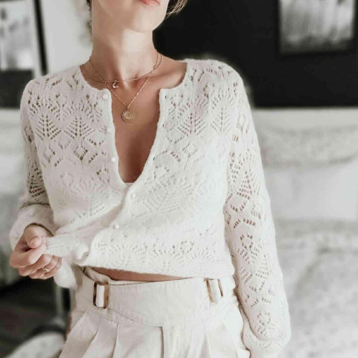 suéter fancy knit jumper mujeres invierno otoño elegante manga larga oneck mohair lana cálido suéter casual vintage chic cardigan gilet w67g