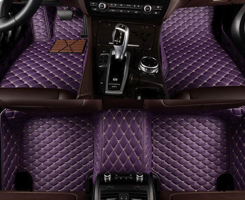 Tapis de plancher de voiture à 5 places personnalisés pour la série BMW E39 E60 F90 Gran Turismo F07 Touring E39 E61 F11 G31