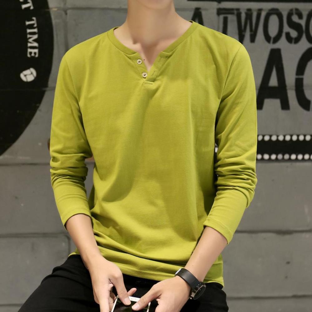 Осень 2019 новый рукав Trend мода мужская футболка