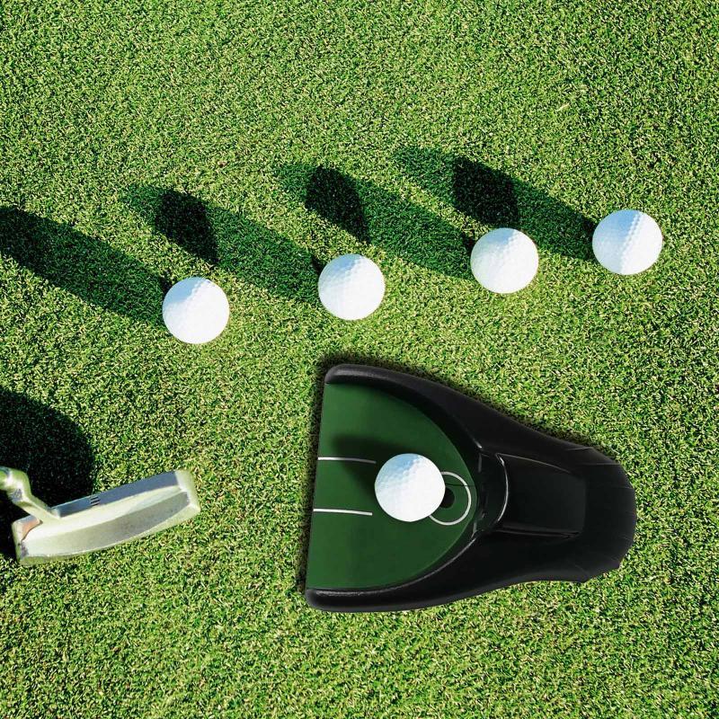 Golf Eğitim AIDS Plastik Oto Dönüş Sistemi Pugolfing Top Kick Geri Otomatik Koyma Bardak Cihazı