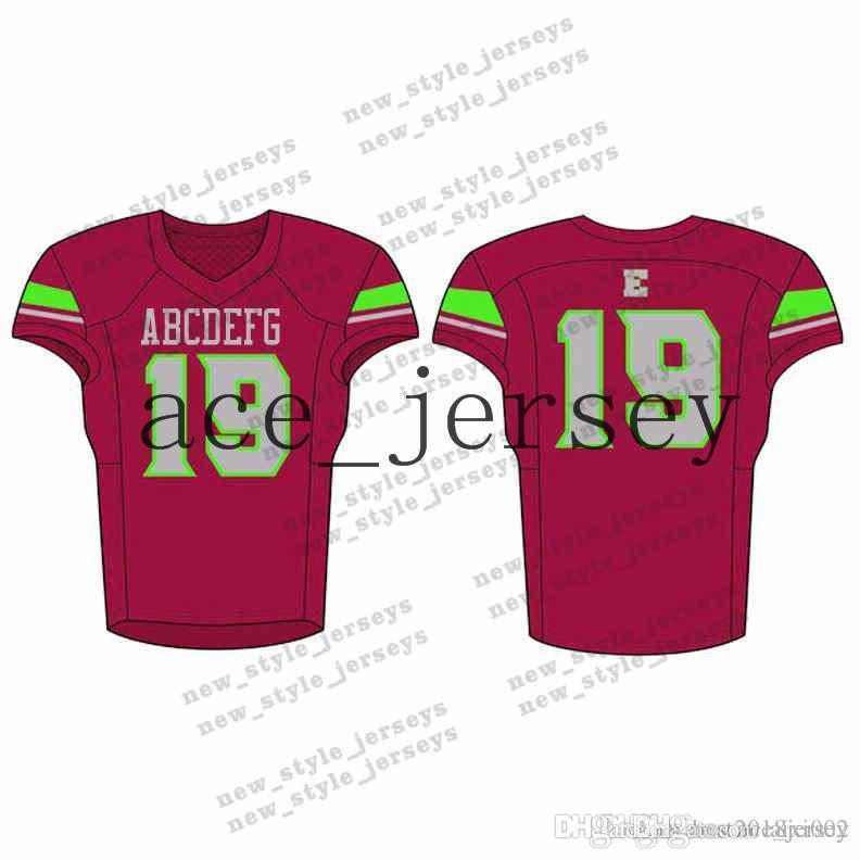 76men 2019 Jersey Jersey Jerseys Ejército Vino Verde Rojo Logos de bordado cosido Cedido Cualquier nombre Cualquier Number Jerseys