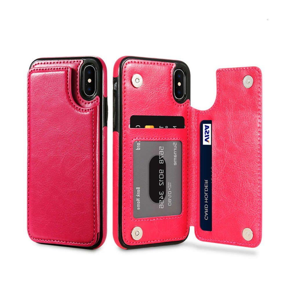 Floveme es adecuado para 11, Nota 10, Funda de cuero de teléfono móvil de bolsillo a la izquierda y derecha de la izquierda y la cubierta del soporte del teléfono móvil