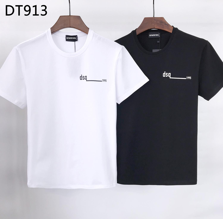 DSQ Phantom Turtle 2020SS New Herren Designer T-shirt Pariser Mode Tshirts Sommer DSQ Muster T-Shirt Männliche Top Qualität 100% Baumwolle Top 6815