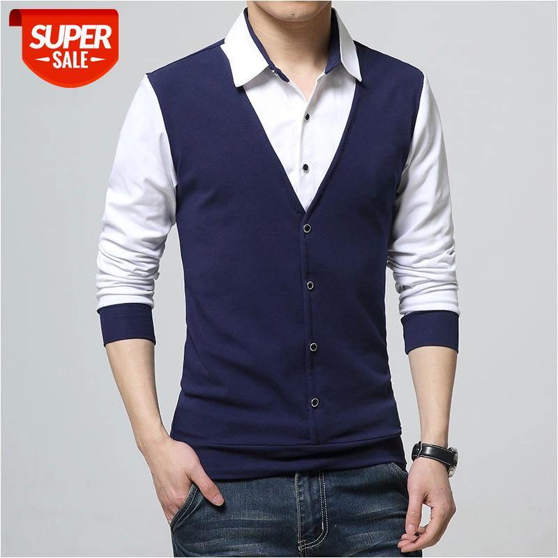 Design Novo 2021 Men s marca polo camisa mangas compridas roupas de primavera casual mais asiático tamanho m-3xl 4xl 5xl # 1Q3Z