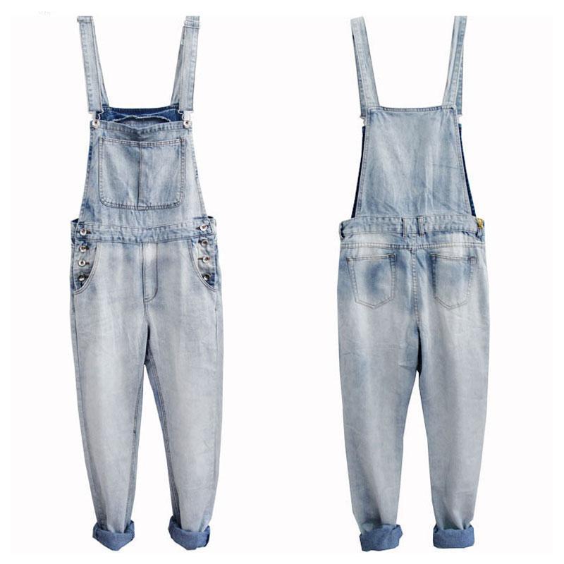 Yaz Ince Kot Erkekler Tulum Bib Denim Tulumlar İş Giyim Kargo Pantolon Hip Hop Mavi Beyaz Rahat Pantolon Büyük Boy S - 5XL Erkekler