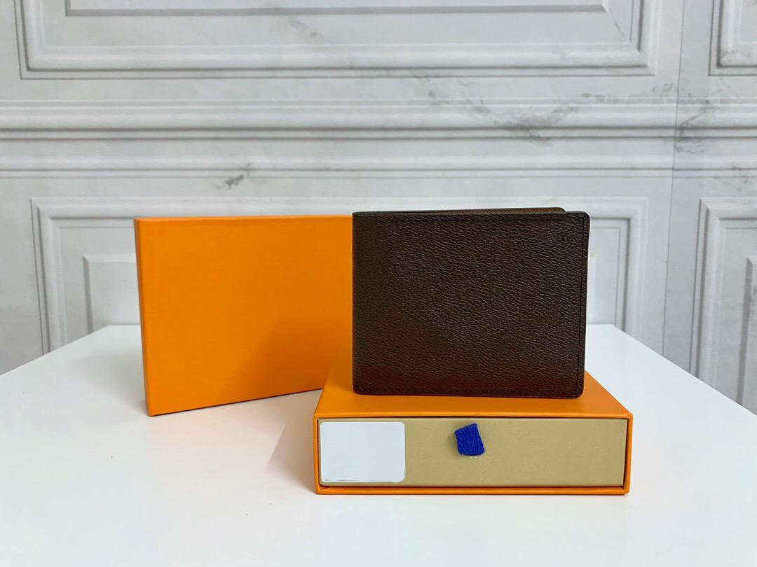 Original de alta calidad de lujo diseñadores billeteras bolsas bolsas Moda corto múltiples billeteras monogramas Classic Card Holder Pallas Bag Monedero