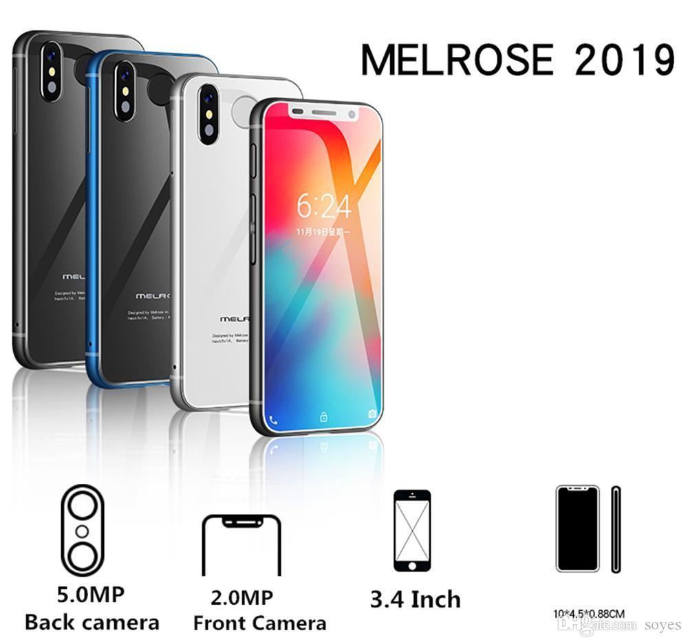 Europ Asia Mini Mobile phone MelroseS9 PLUS 4G Lte Smallest Smartphone 32GB 3.4'' MTK6739 Quad Core Android 8.1 Fingerprint ID Stu
