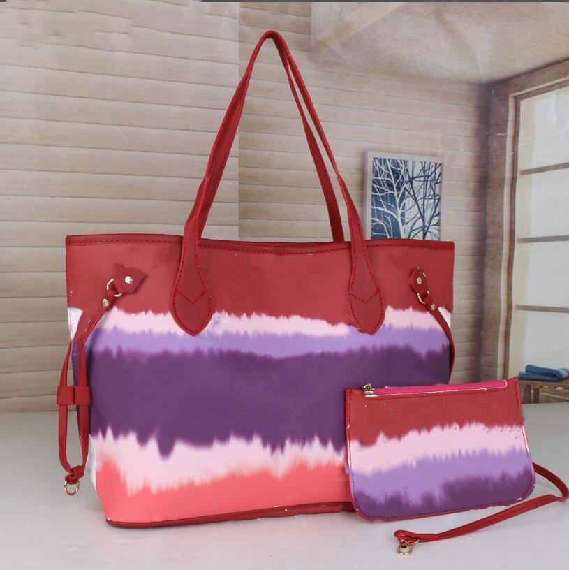 Marka 2021 Grils Çanta Büyük Kapasiteli Moda PU Çanta Tote Omuz Çantaları Deri Çanta Çanta 6 Renkler