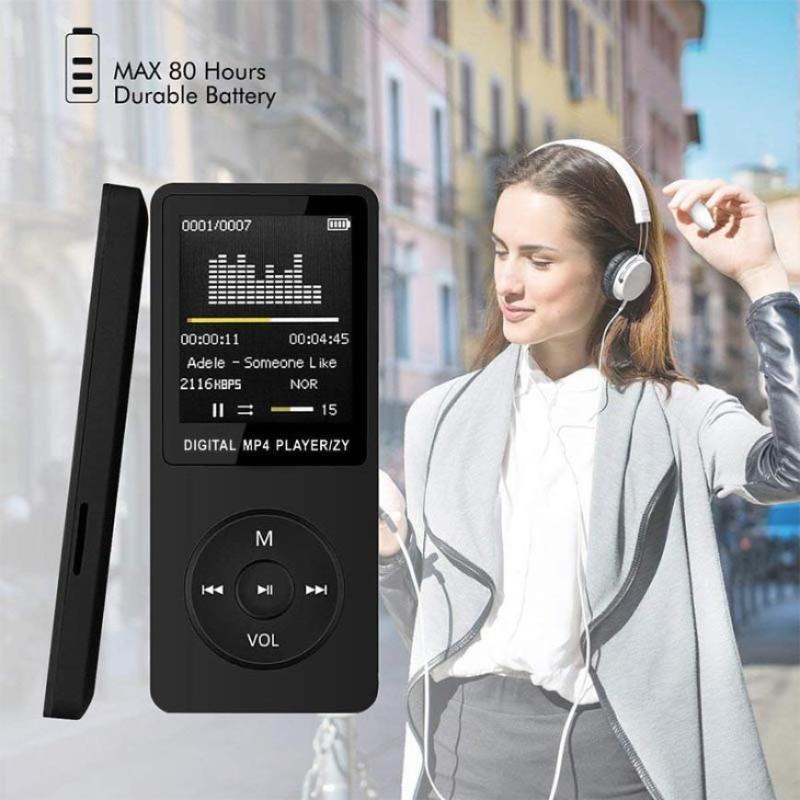 1.8inch exibir tela mp3 player gravador de voz FM rádio vídeo para cartão tf música externa música jogando com alto-falante jogadores mp4