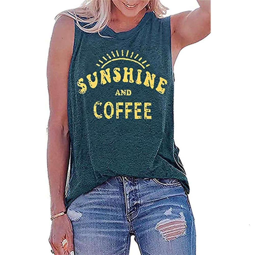 Casual Kolsuz T-shirt Boyun Güneşli Baskı Yuvarlak