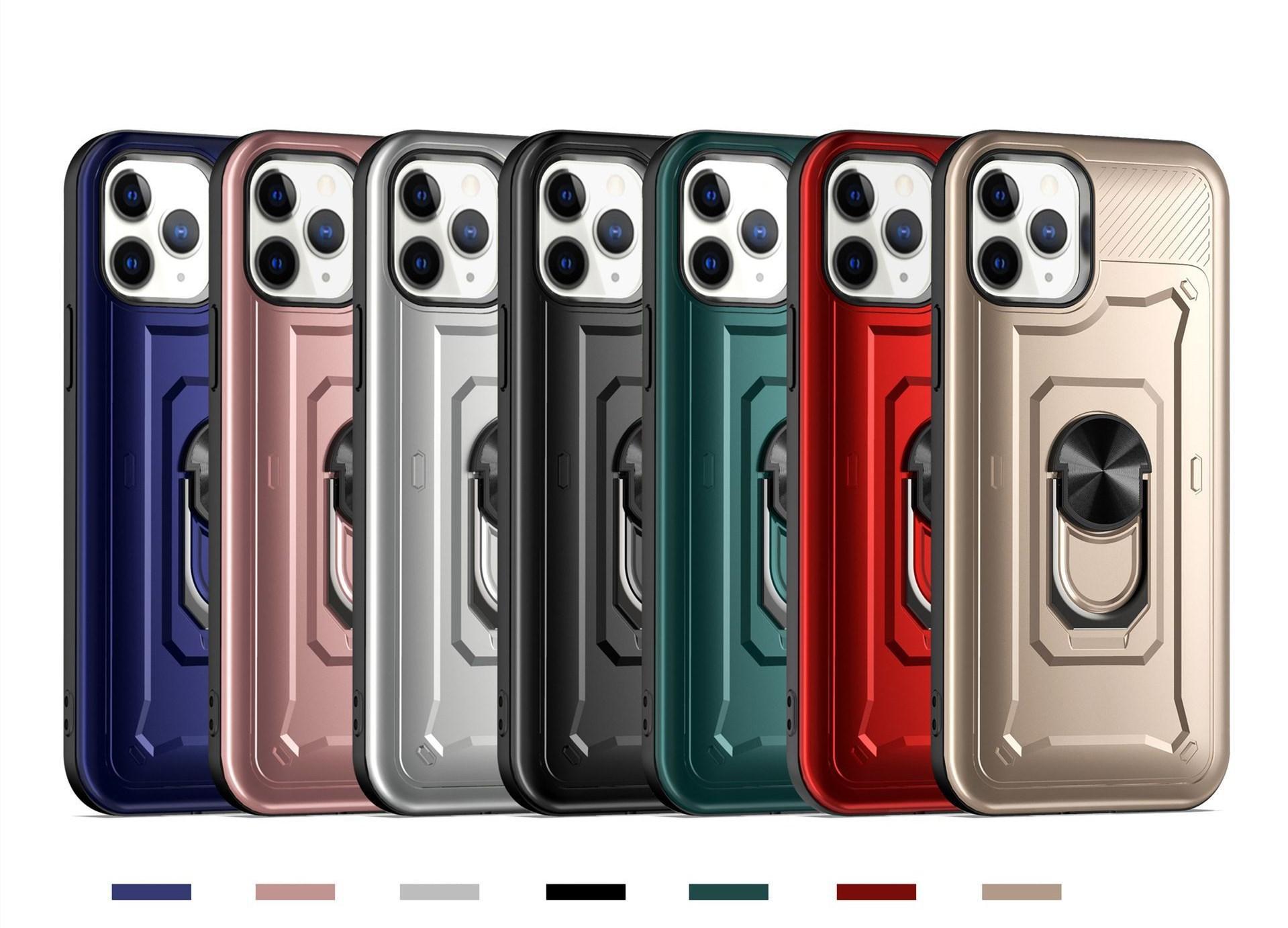 2 в 1 Armor Case для iPhone 12 Mini Pro Max XR XS 6 7 8 плюс 11 Samsung Note20 TPU Case PC Жесткая задняя крышка