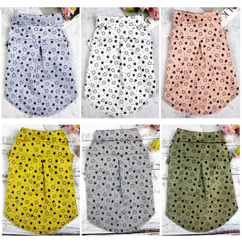 PET T SHIRTS VERANO Ropa de perro sólido Moda Camisas clásicas de moda ropa de algodón perro perrito pequeño ropa de perro barato ropa de mascotas
