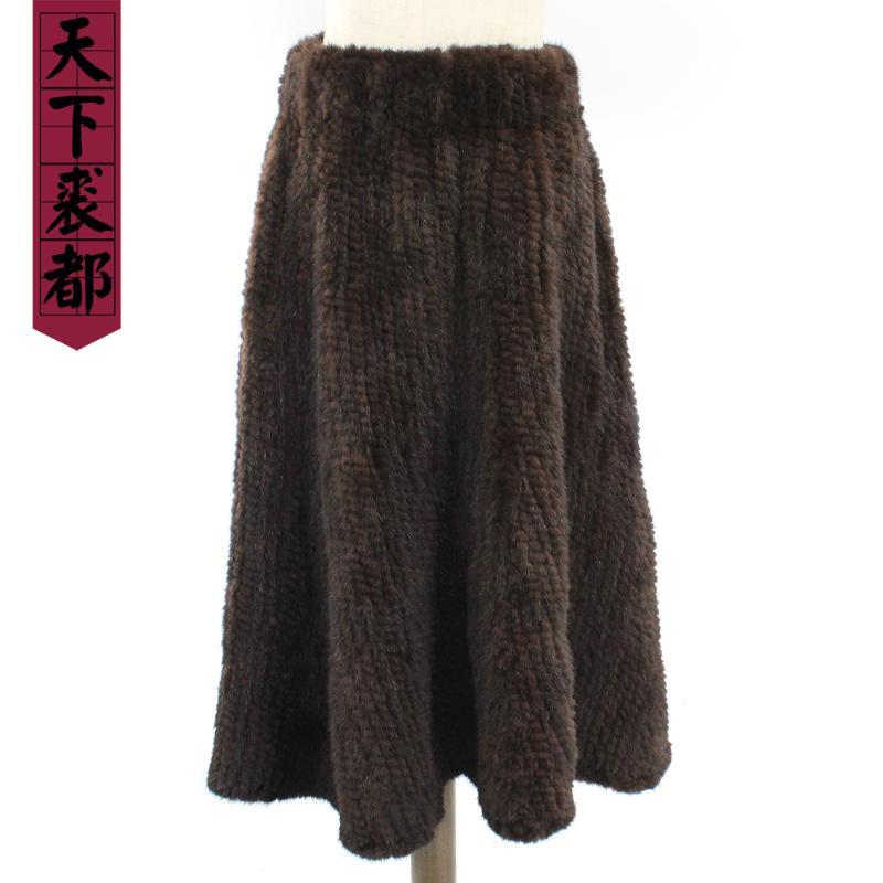 Gonne Donne Real Brand Brand Fashion Lady Genuine Gonna Inverno Lungo caldo naturale