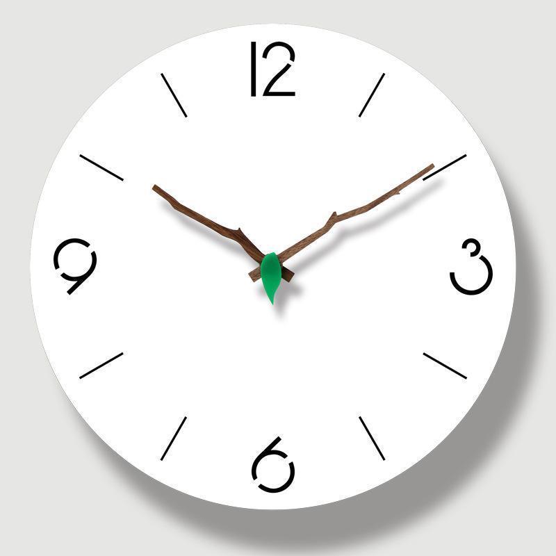 Nordic Wall Clock Quartzo Circular Moderno Design Sala De Visitas Decoração Silenciosa Personalidade Simples Pendurado relógios relógios