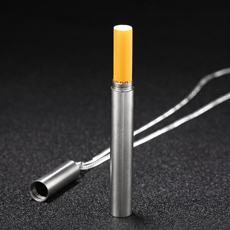Kolye Kolye Benzersiz Tasarım Duman Borusu Baca Kolye erkek Paslanmaz Çelik Sigara Gümüş Renkli Mücevherat