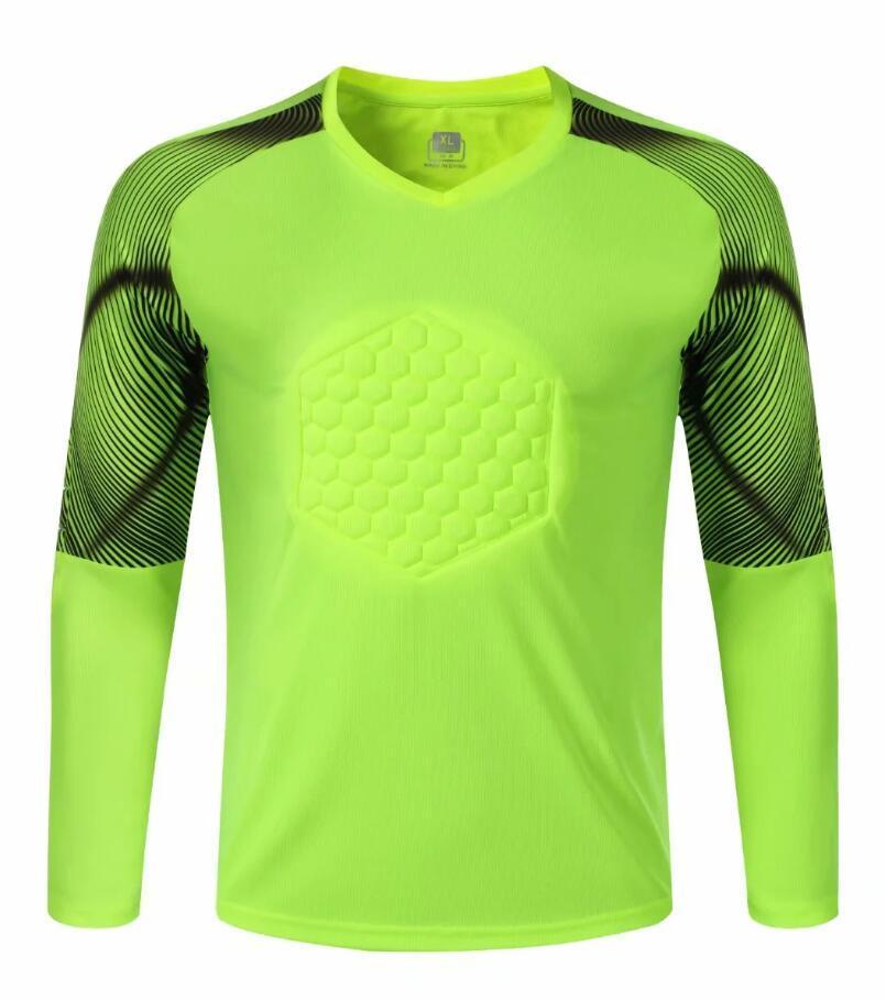 0283 Hommes Football Shirt Gardien de but Jersey de football Taille adulte Taille à manches longues Tracks Jogging Tracksuit