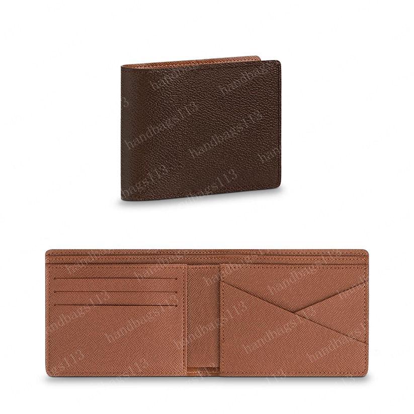 2021 محفظة رجل محافظ المرأة حقيبة يد بطاقة محمول حامل عملة محفظة مفتاح الحقيبة متعددة pochette الكتف حقيبة إمرأة مخلب براون زهرة الجلود 60895 12/10 / 2 سنتيمتر # A01