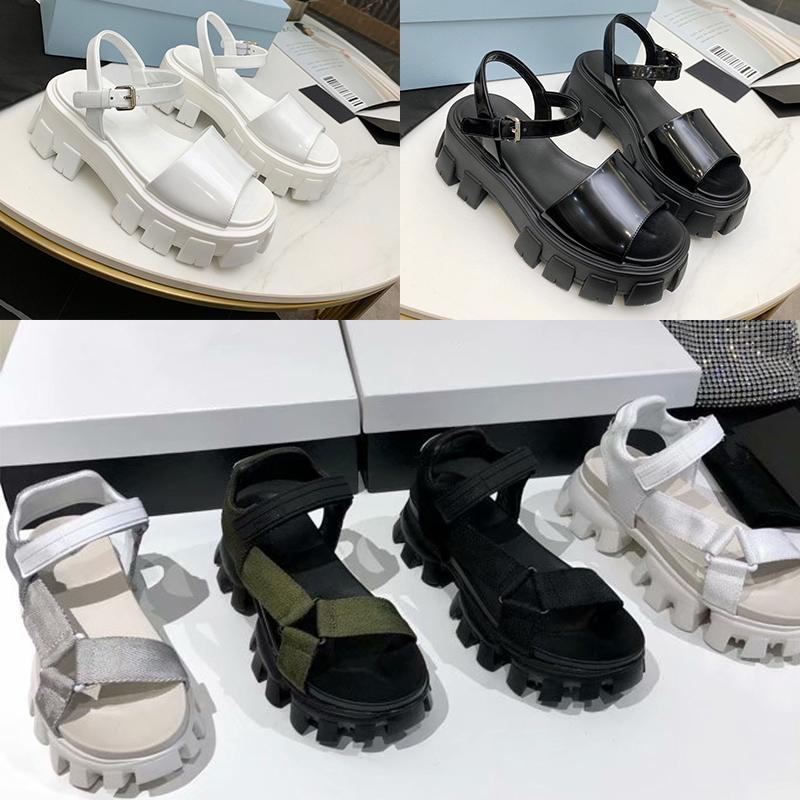 Fashion Luxury Design Women wide head Platform Hook Loop sandals Cloudbust Sandal Summer Beach Designer Outdoor Thunder Thick Bottom Heels Rubber Shoes 35-40