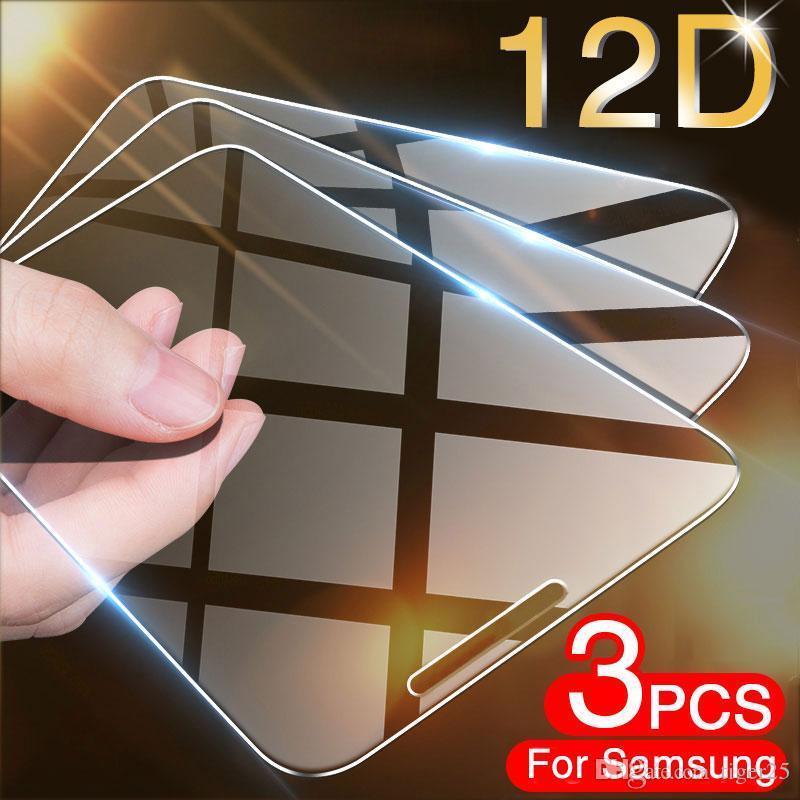 3 pcs vidro temperado para Samsung Galaxy A7 2017 A8 A9 A5 A6 Plus A750 2018 Protetor de tela vidro para Samsung J7 J5 J4 J6 J8 Filme