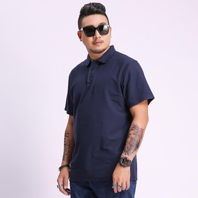 Puro Cottonummer Agregue una camiseta corta sólida para hombre de tamaño fino de sobredimensiones ocasional de la mitad de la manga T-S